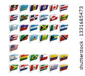 set of vector folder icons with ... | Shutterstock .eps vector #1331685473