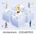 business solution conceptual... | Shutterstock .eps vector #1331685503
