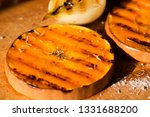 pumpkin slices grilled with... | Shutterstock . vector #1331688200