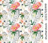 watercolor floral and graphic... | Shutterstock . vector #1331705999