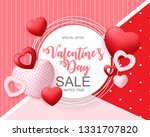 valentines day sale  discont... | Shutterstock . vector #1331707820