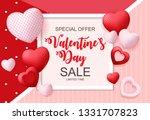 valentines day sale  discont... | Shutterstock . vector #1331707823