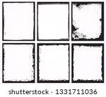 grunge frames set | Shutterstock .eps vector #1331711036