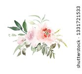 greeting card with watercolor... | Shutterstock . vector #1331721533