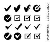 check mark icons set | Shutterstock .eps vector #1331722820