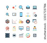 data science flat vector icons 1   Shutterstock .eps vector #1331723786