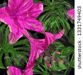 monstera pattern.  repeat... | Shutterstock .eps vector #1331749403