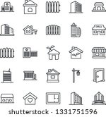 thin line icon set   office...   Shutterstock .eps vector #1331751596