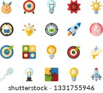 color flat icon set   lamp flat ...   Shutterstock .eps vector #1331755946