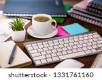 accounting. items for doing... | Shutterstock . vector #1331761160
