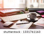 accounting. items for doing... | Shutterstock . vector #1331761163