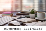 accounting. items for doing... | Shutterstock . vector #1331761166