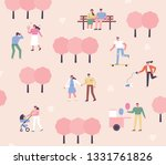 people who go out on a date in... | Shutterstock .eps vector #1331761826