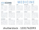collection of vector line icons ... | Shutterstock .eps vector #1331762093
