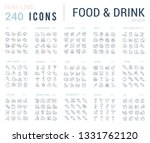 big collection of linear icons. ... | Shutterstock .eps vector #1331762120