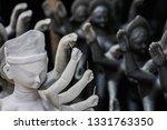 durga and kali deity clay idols ...   Shutterstock . vector #1331763350