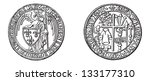 ancient coins  displayed at the ... | Shutterstock .eps vector #133177310