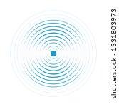 Blue Water Rings. Sound Circle...