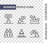 business people icons set... | Shutterstock .eps vector #1331805626