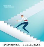businessman climbing stairs to... | Shutterstock .eps vector #1331805656