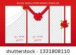 social media banner flyer... | Shutterstock .eps vector #1331808110