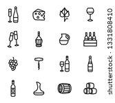 wine signs black thin line icon ... | Shutterstock . vector #1331808410