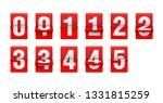 flip countdown clock from 0 to... | Shutterstock .eps vector #1331815259