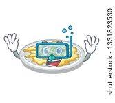 diving scrambled egg in the... | Shutterstock .eps vector #1331823530