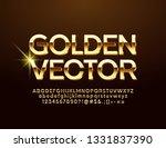 vector golden alphabet. luxury... | Shutterstock .eps vector #1331837390