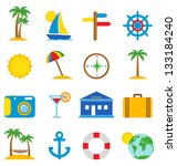 travel icons | Shutterstock .eps vector #133184240