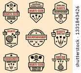 set of darts club label... | Shutterstock .eps vector #1331843426