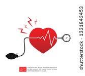 arterial blood pressure... | Shutterstock .eps vector #1331843453