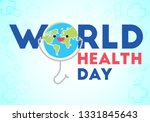 world health day conceptual... | Shutterstock .eps vector #1331845643