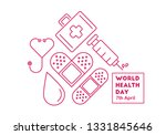 world health day conceptual... | Shutterstock .eps vector #1331845646