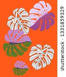 vector tropical pattern with... | Shutterstock .eps vector #1331859329