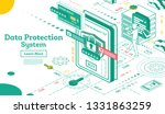 data protection system... | Shutterstock .eps vector #1331863259