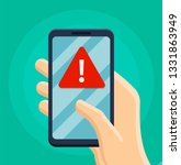 alert notification with... | Shutterstock .eps vector #1331863949