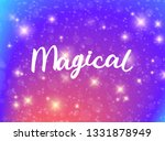 Magical Typography. Sparkle...