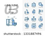 icon pack for logistics   fast... | Shutterstock .eps vector #1331887496