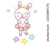 cute rabbit vector bunny... | Shutterstock .eps vector #1331889170