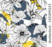tropical  animal motif. black... | Shutterstock .eps vector #1331890223