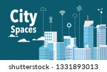 smart city with many modern...   Shutterstock .eps vector #1331893013
