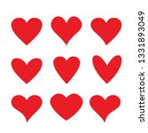 heart icon collection  love... | Shutterstock .eps vector #1331893049