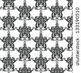 damask background | Shutterstock .eps vector #133190510