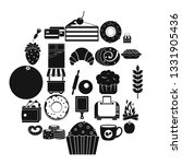 pastry icons set. simple set of ...   Shutterstock .eps vector #1331905436
