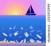 stop ocean plastic pollution.... | Shutterstock .eps vector #1331915999