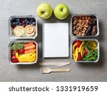 containers with delicious food... | Shutterstock . vector #1331919659