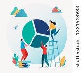 business report. financial... | Shutterstock .eps vector #1331928983