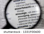Small photo of The word or phrase assuage in a dictionary.