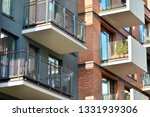 modern condo building with huge ... | Shutterstock . vector #1331939306